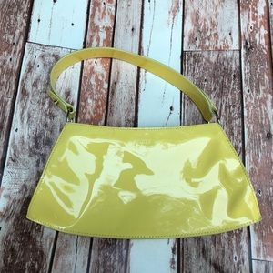 Furla Patent Leather Yellow Purse